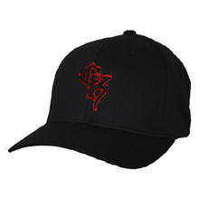 Black Flex-Fit Cap - Red CK Puff