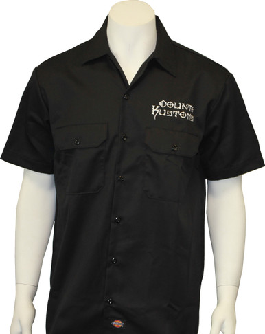 1dd59e00 Embroidered Work Shirt - Black - Seven Clothing Company