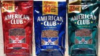 American Club Expanded pipe tobacco (16oz bag)