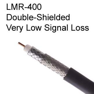 LMR-400 Coaxial Cable for Very Low Signal Loss