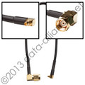 Antenna cable: MMCX To RP-SMA-male Right-Angle connectors: 8-inch coax