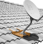 TILEMT Antenna Mount for Tile Roof - suitable for Dish, Large Antennas
