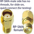 RP-SMA Male to RP-SMA Female Slide-On Quick-Connect Adapter