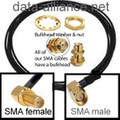 SMA Extension Cable w/ Right Angle Connectors Male to Female bulkhead