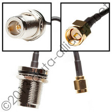 Antenna cable: N-female To SMA-male connector: 24-inch coaxial assembly