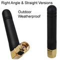 Omni-directional 2.4GHz outdoor antenna: Straight (A2D2) and right-angle version (A2D2RA)