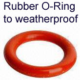 Rubber O-ring to waterproof RP-SMA and SMA connector in enclosure:  Use of one of these O-rings with a bulkhead nut and washer,  is IP68 protection on an enclosure wall.