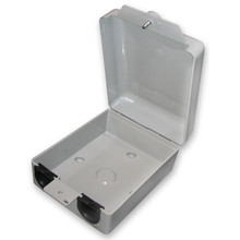 ENC5x4x2 Enclosure Outdoor Network POE, Telco: 2 Ports.  Dimensions Inside: 5 x 4 x 2-inch