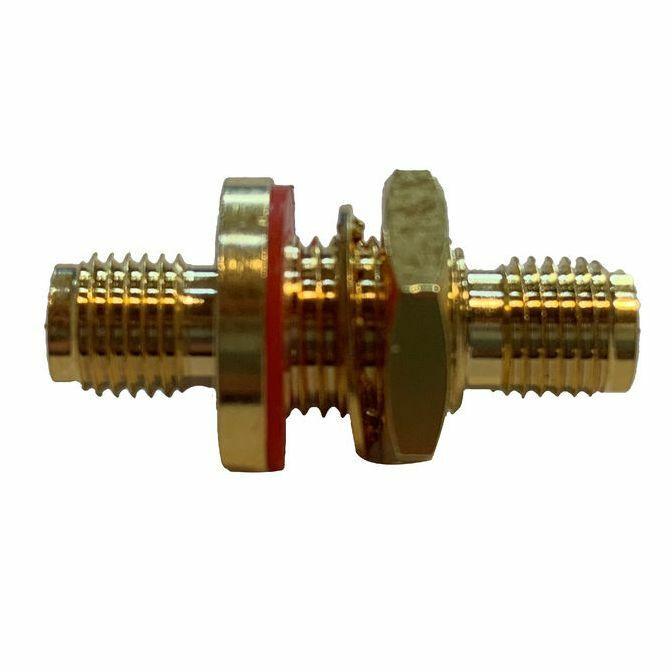 50 WiFi Adapter SMA Jack to Jack Female bulkhead o-ring straight coax connector