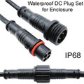 Weatherproof DC Plug Set for Enclosure