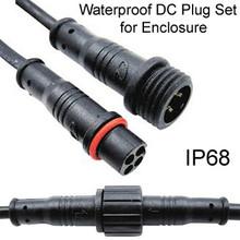 Weatherproof DC Plug Set for Enclosure