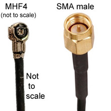 MHF4 To SMA-male Cable: 3-inch, 4 inch, 5-inch, 6 inch, 8 inch, 16 inch