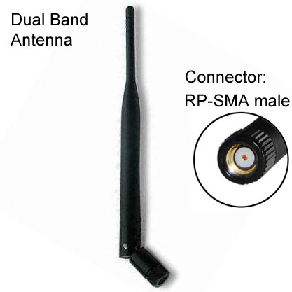pair 2.4GHz 7dBi High Gain RP-TNC Wireless WiFi Antenna