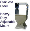 Stainless Steel Antenna Mount:  Adjustable Heavy Duty for Pole or Wall