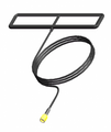 Low-profile, flat antenna with adhesive mount.  5FT cable to RP-SMA connector.