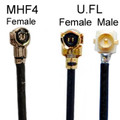 Cable with MHF4 (female) to U.FL-female or U.FL-male connector