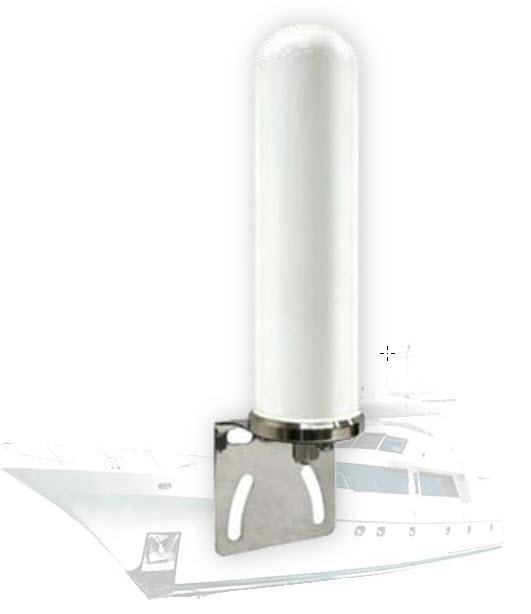 Antenna 4G LTE Dual Band 4/6dBi 698-960/1710-2700MHz Omnidirectional w/ N-f  Marine Grade