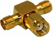 RP-SMA T-connector:  Combine 2 antenna cables to one connector