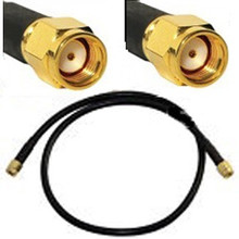 RP-SMA male To RP-SMA male antenna cable:  18-inches