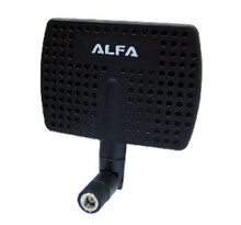 Directional antenna focuses signal directionally, for stronger signal strength and less interference.
