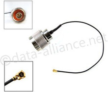 Antenna Cable:  N-male To U.FL connector: 6-inch coaxial assembly