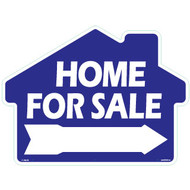 Home For Sale Rounded House Shaped Sign with arrow