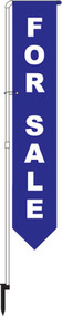 For Sale Yard Marker Blue - FLAG ONLY!