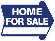 Home for Sale 18 x 24 Corrugated Rounded Arrow Blue