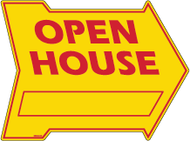 Open House 18 x 24 Arrow with blank Yellow & Red