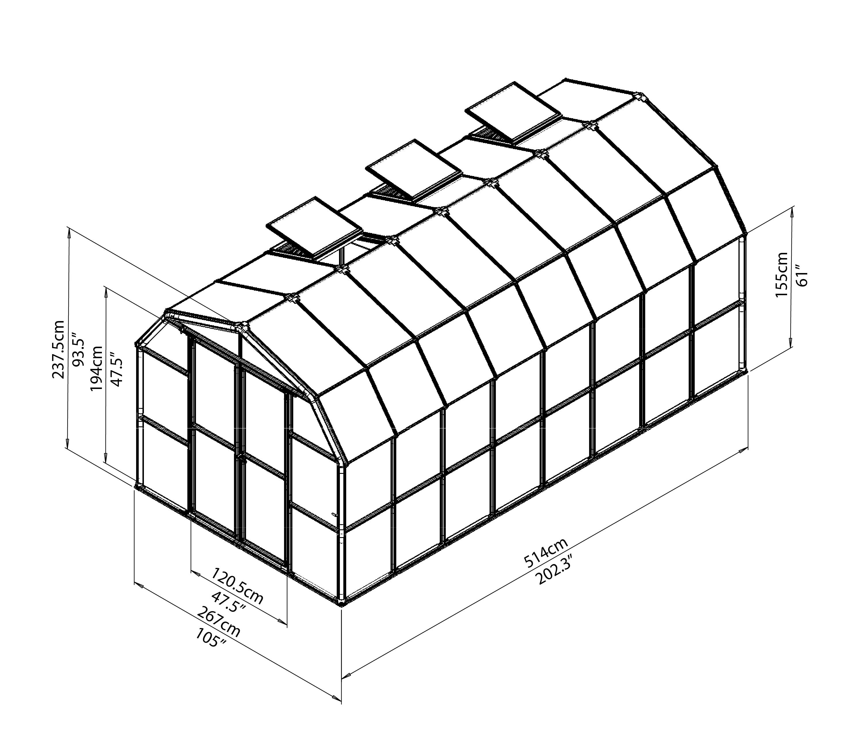 rion-greenhouses-grandgardener-prestige-opaque-8x16-drawing-isoview.jpg