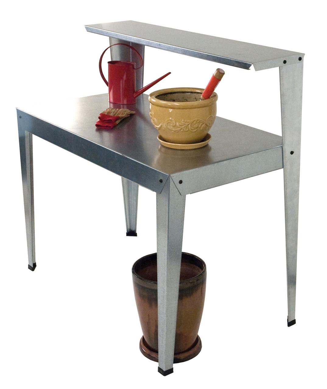 Galvanized Potting Bench