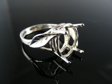 R19  RING SETTING STERLING SILVER, SIZE 6.75, 14X10 MM OVAL STONE