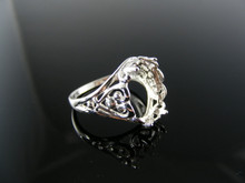 727 RING SETTING STERLING SILVER SIZE 7 12X10 MM OVAL STONE