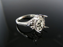 5800 RING SETTING STERLING SILVER 12X10 MM OVAL STONE SIZE 6