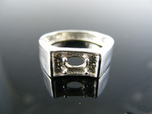 5696 RING SETTING STERLING SILVER, SIZE 8.5, 6X4 MM OVAL STONE