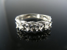 5772 MOTHERS RING STERLING SILVER, 5 STONE, 3.5MM ROUND STONES SIZE 9.5