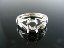 1298 RING SETTING STERLING SILVER, SIZE 7, 6X4MM OVAL STONE