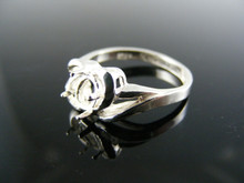 1408 RING SETTING STERLING SILVER, SIZE 7, 6X4 MM OVAL STONE