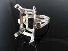 5723 RING SETTING STERLING SILVER 20X15 EMERALD CUT SIZE 9.5