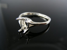 5691 RING SETTING STERLING SILVER, SIZE 9, 9X6 MM PEAR