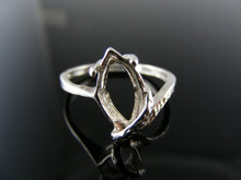 5704 RING SETTING STERLING SILVER 14X7MM MARQUISE GEM RING SIZE 7.5