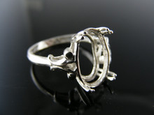 5725 RING SETTING STERLING SILVER 13X10MM OVAL SIZE 7.5