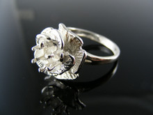 5717 RING SETTING STERLING SILVER 6MM ROUND CUT RING SIZE 7.5