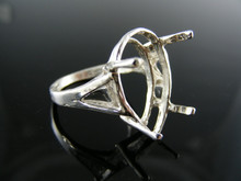 5694 RING SETTING STERLING SILVER, SIZE 7.5, 22X15 MM PEAR STONE