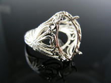 5470 RING SETTING STERLING SILVER 18X8MM MARQUISE RING SIZE 7