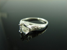 5805 RING SETTING STERLING SILVER SIZE 7.5, 6 MM ROUND STONE