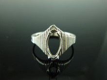 5727 Ring Setting Sterling Silver Size 8, 11x6mm Marquise stone