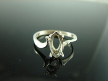 5736 Ring Setting Sterling Silver Size 7.75, 11x6mm Marquise Gemstone