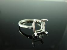 5742 Ring Setting Sterling Silver Size 10.5, 11x9mm Emerald Cut Gemstone