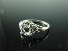 5743 Ring Setting Sterling Silver Size 9.75, 6mm Round Gemstone